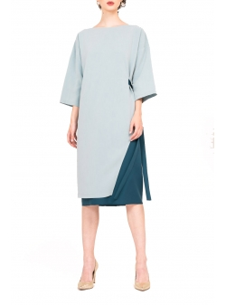 Blue Midi Dress Bluzat