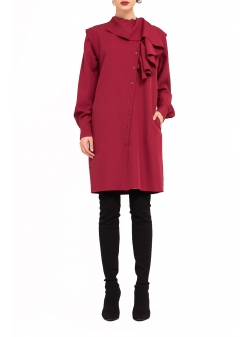 Burgundy Midi Dress Bluzat