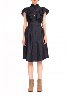 Cotton Midi Dress Bluzat