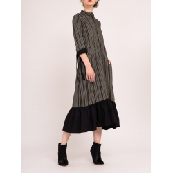 Long Dress with stripes and ruffle Bluzat
