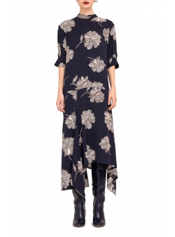 Midi Dress with floral print Bluzat