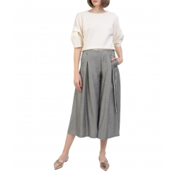 Butter-white cotton blouse Oana Manolescu
