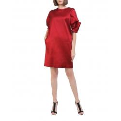 Red mini viscose dress Oana Manolescu