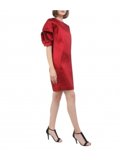 Red mini viscose dress Oana Manolescu