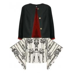 Jacheta din bumbac cu imprimeu Oana Manolescu