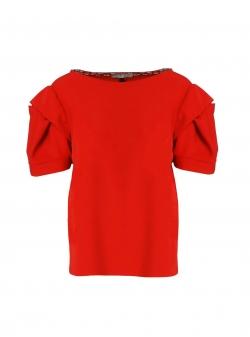 Red viscose blouse Oana Manolescu