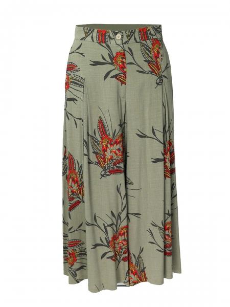 Pantaloni culottes cu imprimeu floral Oana Manolescu
