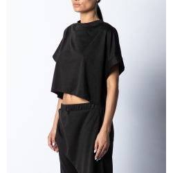 Black assymetrical top Isso