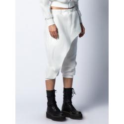 Pantaloni din in cu detaliu frontal Isso