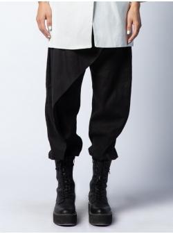 Pantaloni negri din in Isso