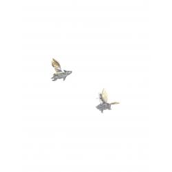 Cercei cu porcusor zburator pe lobul urechii Bizar Concept