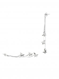 Cercei lungi cu porcusori mici in zbor Bizar Concept