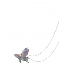 Pandantiv cu porcusor zburator colorat Bizar Concept