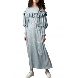 Blue dress with ruffles Parlor