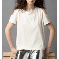 Cotton top with cropped shoulders Parlor