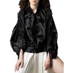 Jacheta neagra din bumbac Parlor