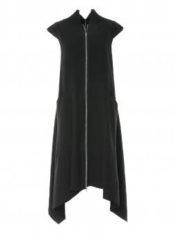 Black midi dress Larisa Dragna