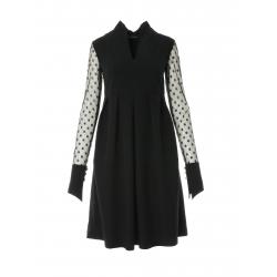 Midi dress with tulle sleeves Larisa Dragna