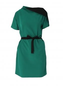 Short sleeve bicolor dress Larisa Dragna