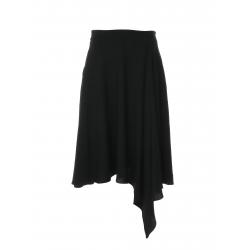 Asymmetric skirt with side folds Larisa Dragna