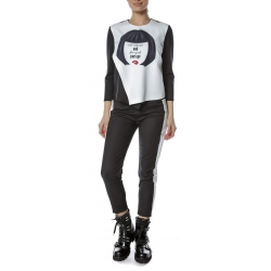 White blouse with digital print Entino