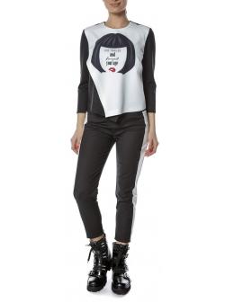 Bluza alba cu imprimeu digital Entino