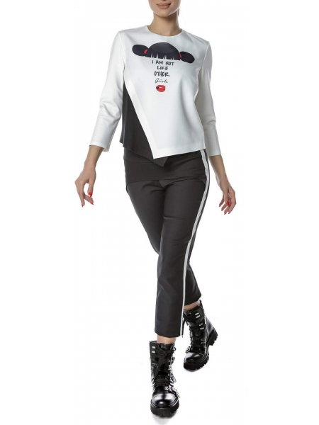 Black trousers with piping Entino