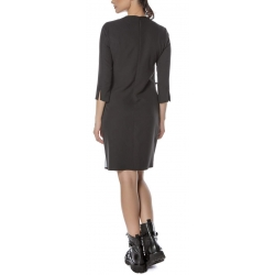 Asymmetric dress with digital print Entino