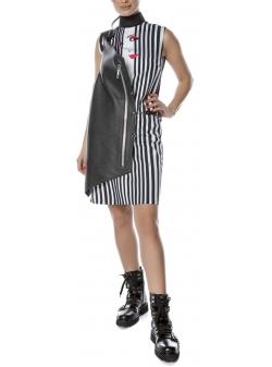 Black dress with digital print Entino