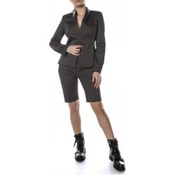Black cotton jacket with stripes Entino
