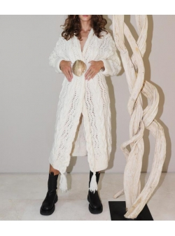 White wool cardigan Marzo Concepto