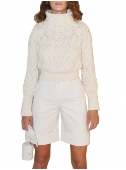 Wool blouse Blanco