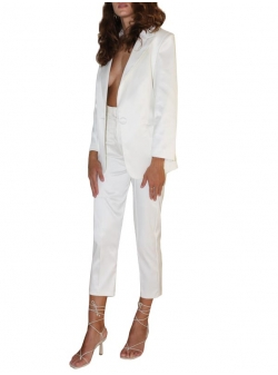 White trousers with high waist Hardy Concepto
