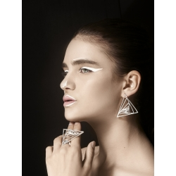 Cercei triunghiulari Threegonomy JADA