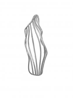 Threegonomy triangle silver earrings JADA