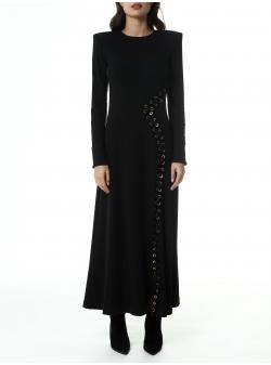 Bluza neagra asimetrica cu imprimeu Una-i Luna