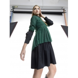 Bluza verde din tulle cu buline Larisa Dragna