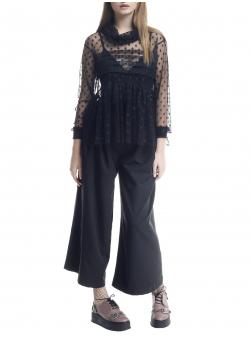 Bluza neagra din tulle cu buline Larisa Dragna
