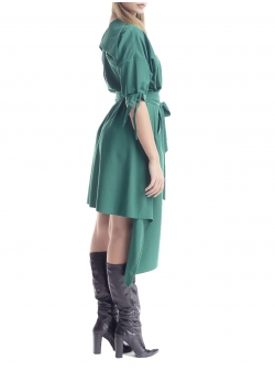 Rochie verde asimetrica Larisa Dragna