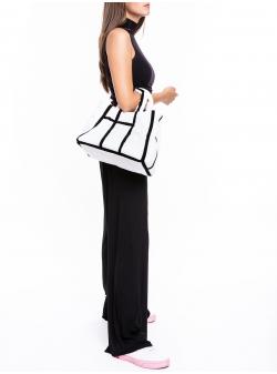 White Mondrian Pyramid Bag Z Puffers
