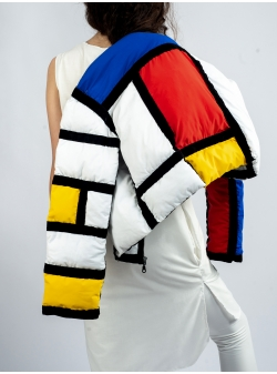 Short Mondrian Jacket Z Puffers