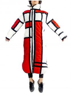 Red Mondrian Jacket Z Puffers