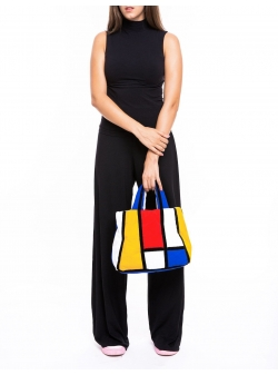 Geanta piramida colorata Mondrian Z Puffers