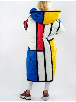 Oversized Mondrian Jacket Z Puffers