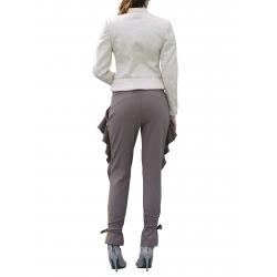 Pantaloni gri cu volane Florentina Giol