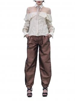 Pantaloni cu croiala relaxata Florentina Giol