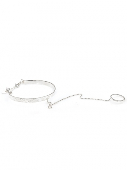 Bracelet with ring and chain Gabriela Secarea