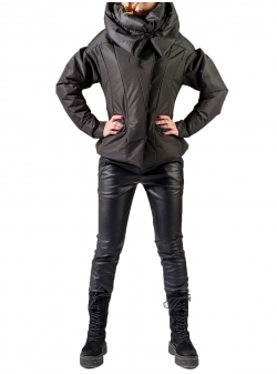 Black jacket with oversized collar Florentina Giol
