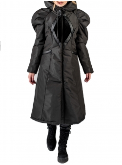 Black Jacket with Oversized Shoulders Florentina Giol