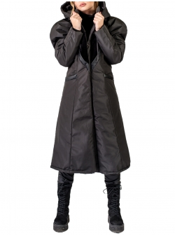 Jacheta lunga impermeabila cu umeri supradimensionati Florentina Giol